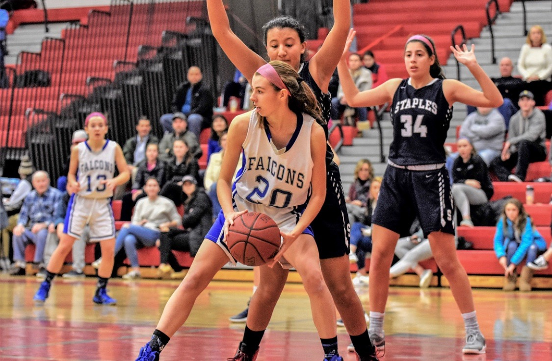 Paige O'Connell during their game against Staples last year.
