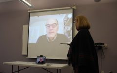 Tappan Wilder Skypes with Fairfield Ludlowe Drama Students