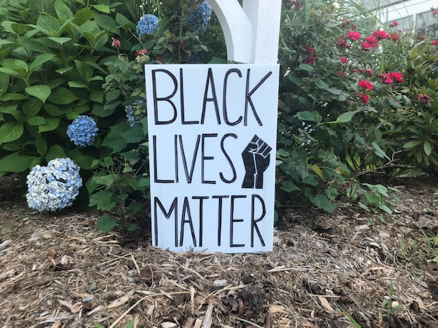 Sophia+Vassalo+has+created+lawn+signs+to+fundraise+for+organizations+aligned+with+Black+Lives+Matter