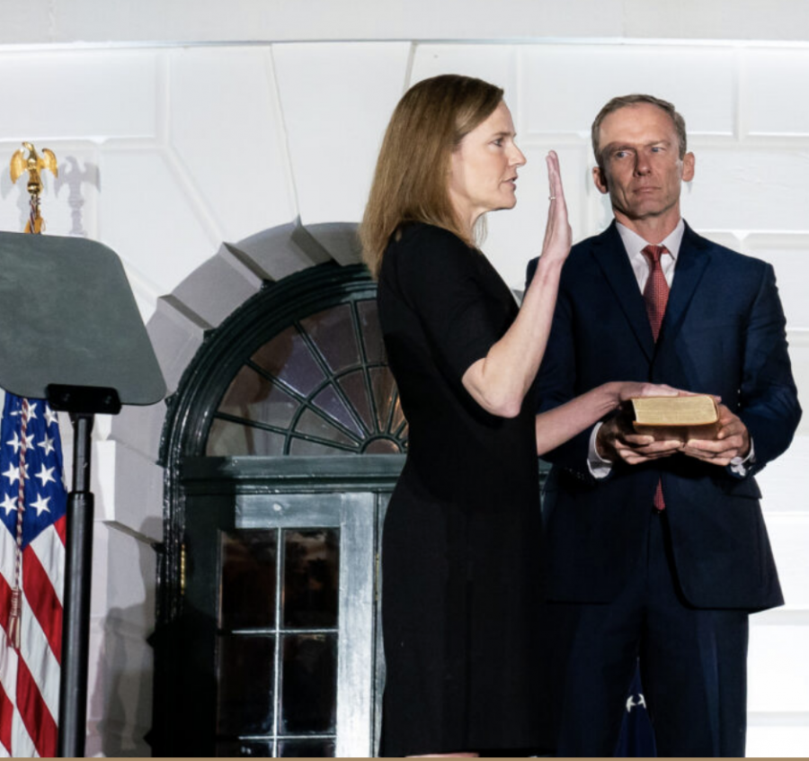 Amy Coney Barrett was sworn in as a Supreme Court Justice on October 26 after being confirmed by the Senate.