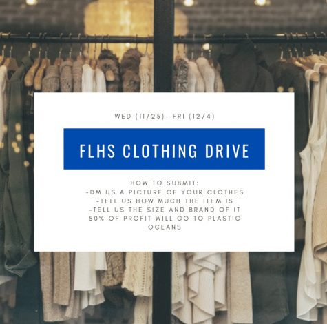 The FLHS Marine Biology Class is holding a second-hand clothing drive for the FLHS community and encourages students to get involved.