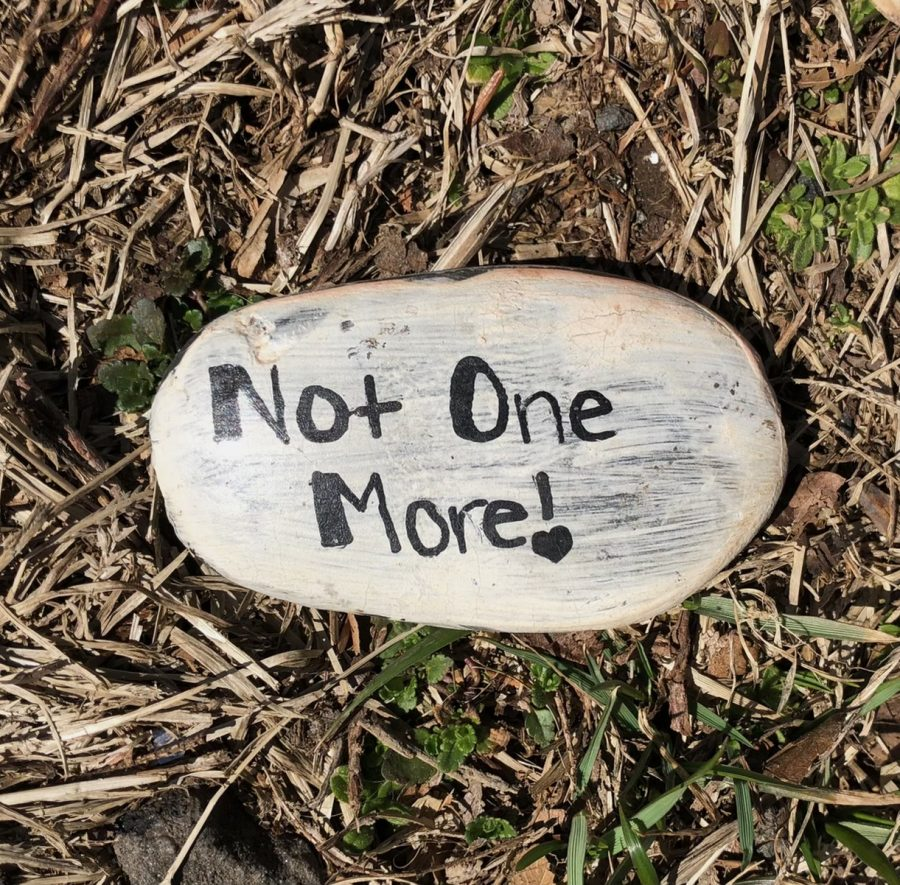 A+rock+found+in+a+Fairfield+open+space+communicates+the+message+that+violence+against+women+must+stop.