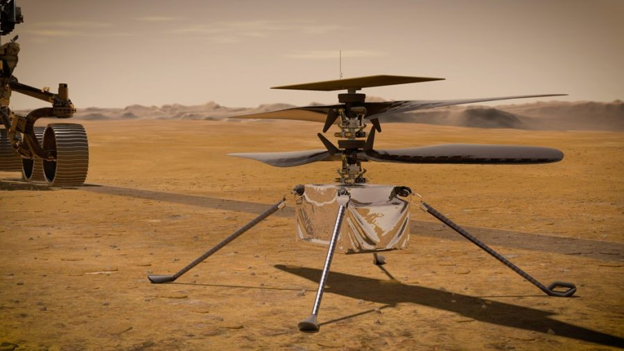 NASA's new Mars helicopter, Ingenuity, successfully completed its first flight on April 19.